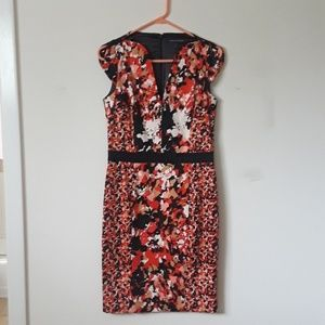 French Connection orange and black dress 12